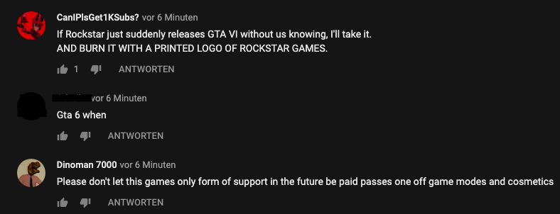 "Rockstar is censoring ""GTA 6"" in the YouTube comments"